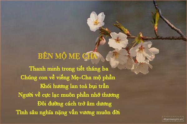Bài thơ hay viết về tiết Thanh Minh