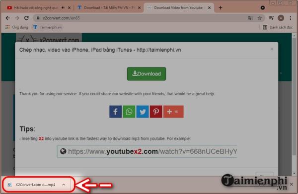 Download video Youtube bang x2convert.com