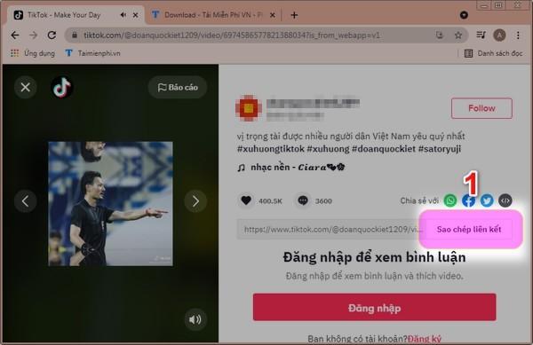 Download video TikTok cho PC