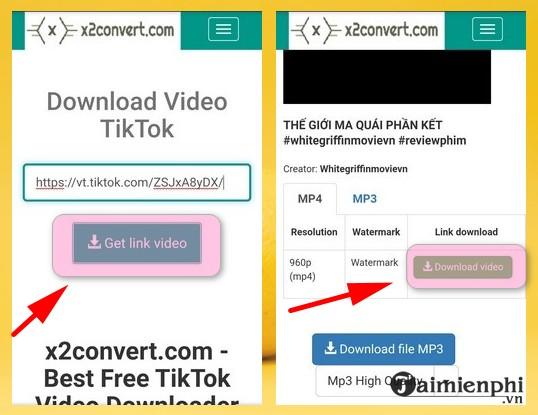 Cach tai TikTok khong logo tren iPhone