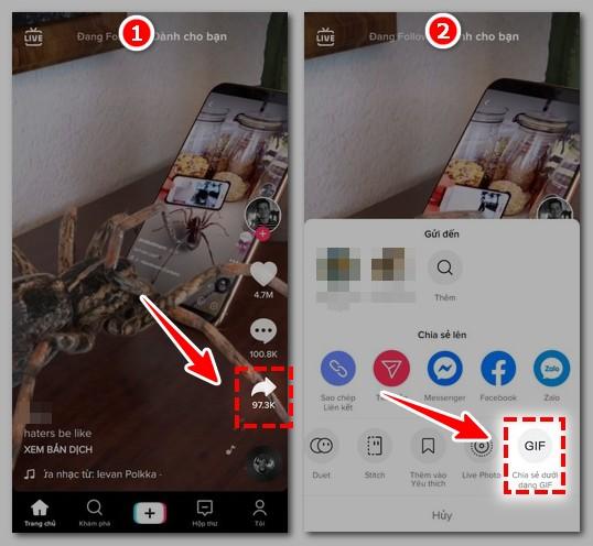 Tai video TikTok cho dien thoai Android