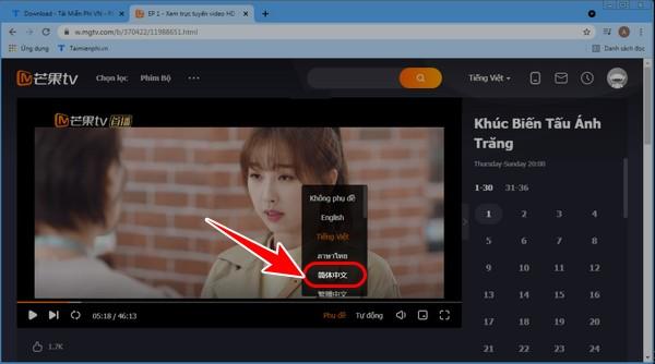 cach chinh phu de video tren MangoTV