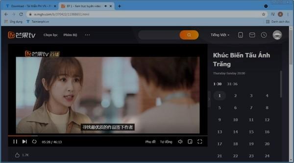 huong dan chinh phu de chat luong video tren mgtv