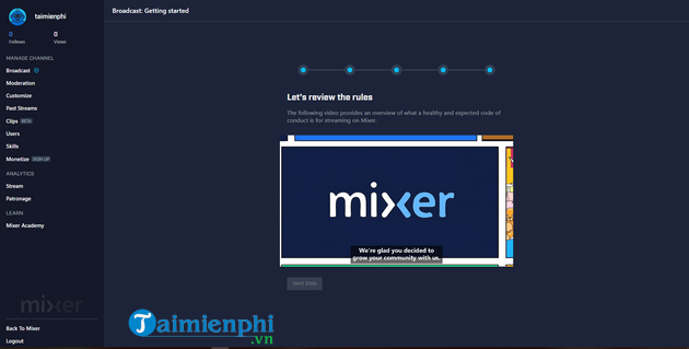 How to live streaming on mixer 7