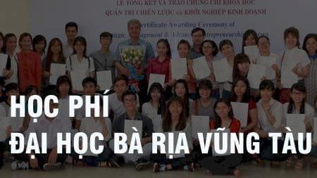 hoc phi dai hoc ba ria vung tau 2016 2017