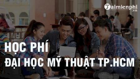hoc phi dai hoc my thuat tp hcm 2016 2017