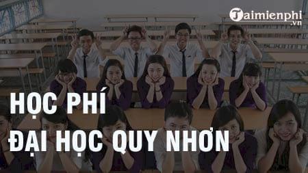 hoc phi dai hoc quy nhon 2016 2017
