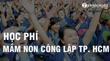hoc phi mam non cong lap 2016 2017 tp hcm la bao nhieu