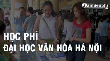 hoc phi truong dai hoc van hoa ha noi 2016 2017