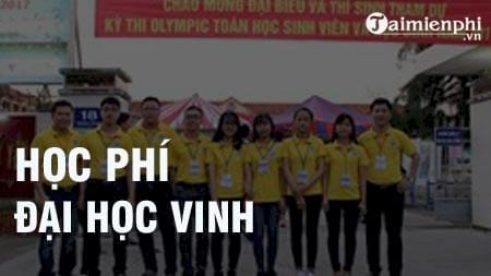 hoc phi truong dai hoc vinh 2016 2017