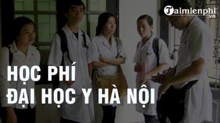 hoc phi truong dai hoc y ha noi 2016 2017