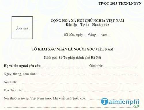 mot so mau to khai xac nhan co the ban se dung