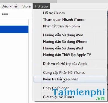 cach cap nhat itunes tai itunes moi nhat cho may tinh laptop 2