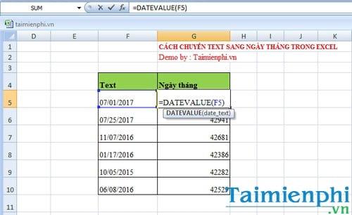 Cách chuyển text sang ngày tháng Excel 4