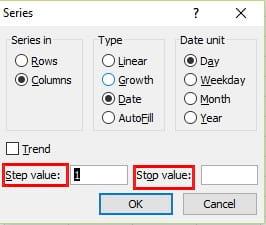 Cách tạo ngày tháng tăng dần trong Excel 2