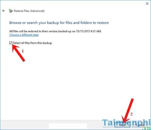 Cách Backup, Restore Windows 10, Sao lưu và phục hồi Windows 10 15