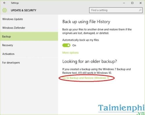 Cách Backup, Restore Windows 10, Sao lưu và phục hồi Windows 10 2