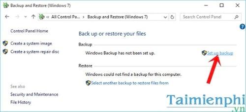 Cách Backup, Restore Windows 10, Sao lưu và phục hồi Windows 10 3