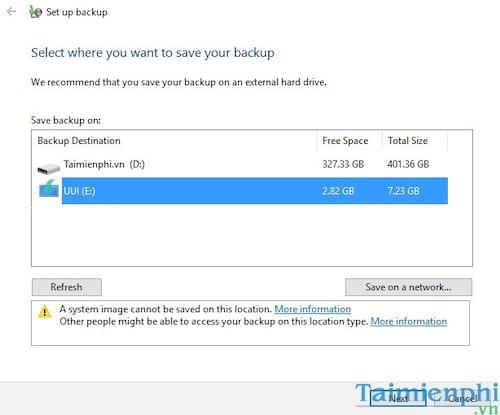 Cách Backup, Restore Windows 10, Sao lưu và phục hồi Windows 10 5