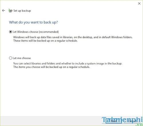 Cách Backup, Restore Windows 10, Sao lưu và phục hồi Windows 10 6