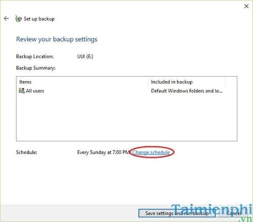 Cách Backup, Restore Windows 10, Sao lưu và phục hồi Windows 10 7