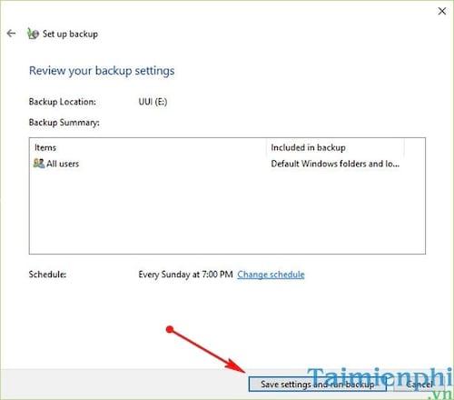 Cách Backup, Restore Windows 10, Sao lưu và phục hồi Windows 10 9