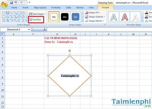 Cách vẽ hình trong Excel 2