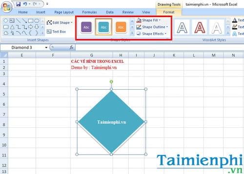 Cách vẽ hình trong Excel 3
