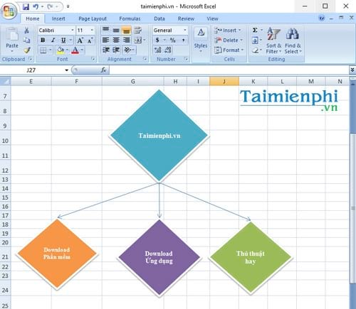 Cách vẽ hình trong Excel 5