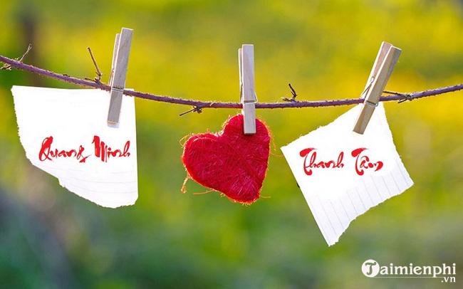 Cách tạo tên thư pháp 2 người đẹp, lãng mạn