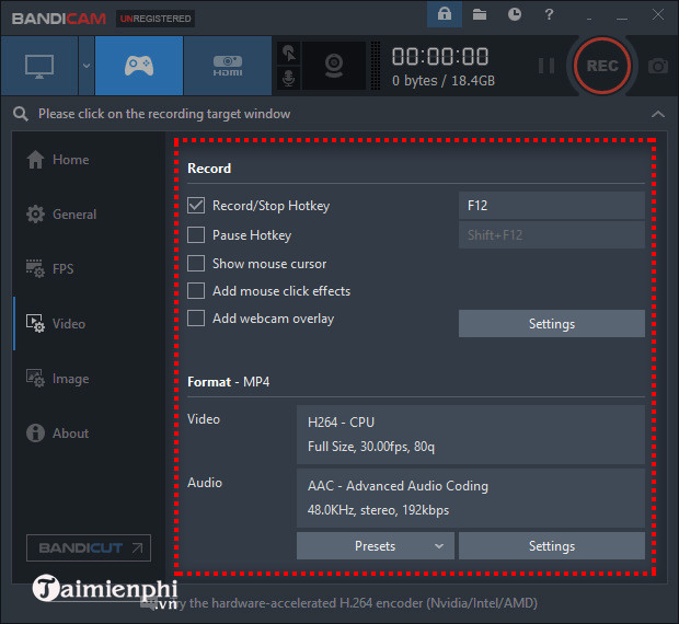 how to use bandicam to take video capture 16