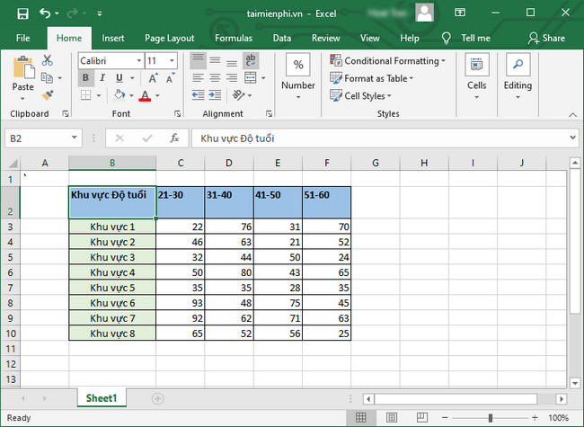 cach tao gach cheo trong o excel 2016