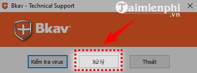 quet virus bang bkav tool