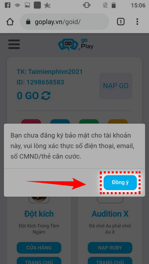 Cách đăng ký Đột Kích trên điện thoại