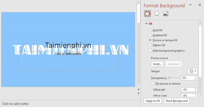 cach thay doi hinh nen slide trong powerpoint 2010 10