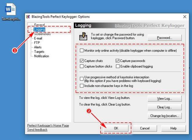 Hướng dẫn cài và sử dụng Perfect Keylogger 11