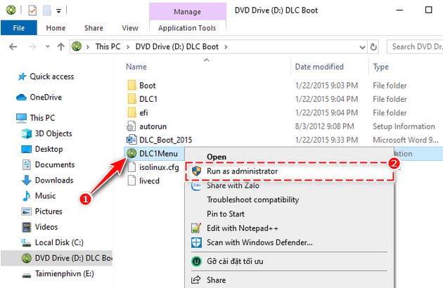Cách tạo USB boot bằng DLC Boot 2015 2