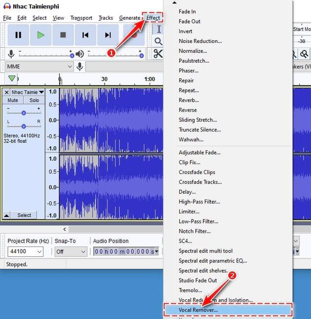 soundtrack bang audacity 4