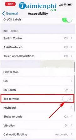Cách chạm 2 lần mở màn hình iPhone