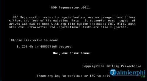 Cách sửa ổ cứng bị BAD nặng 3