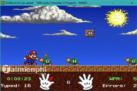 chay mario typing tren windows 10 7 bang dosbox 12