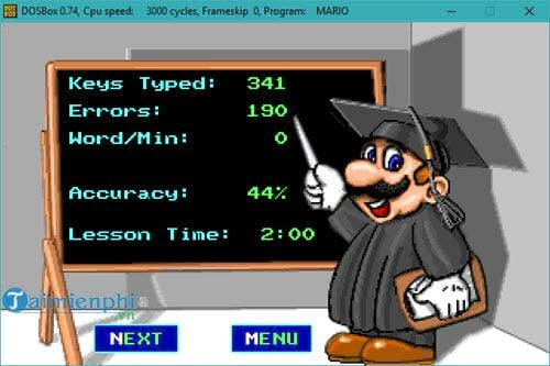 chay mario typing tren windows 10 7 bang dosbox 13