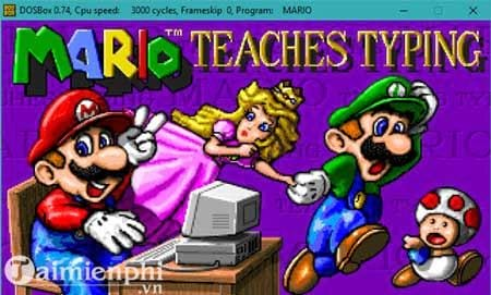 chay mario typing tren windows 10 7 bang dosbox 10