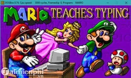 [TaiMienPhi.Vn] Cách chạy Mario typing trên windows 10, 7 bằng DosBox, tập gõ bàn phím
