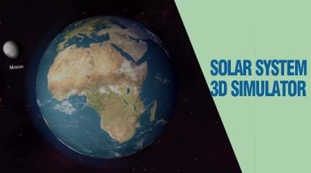 cach su dung solar system 3d simulator