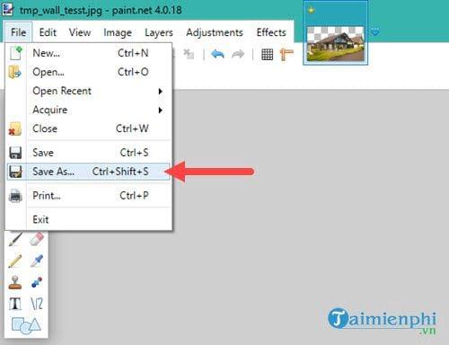 Cách tạo ảnh nền trong suốt bằng Paint.NET