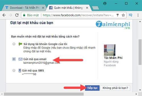 Cách lấy lại mật khẩu Facebook bằng Gmail 3