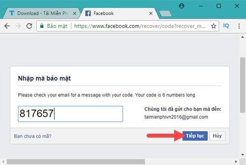 Cách lấy lại mật khẩu Facebook bằng Gmail 5