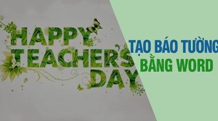 cach lam bao tuong tren word
