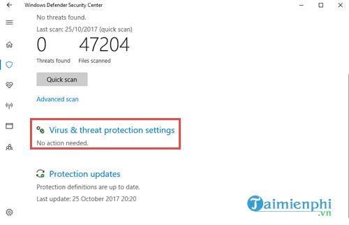 huong dan bat tinh nang chong ransomware tren windows 10 fall creators update 4
